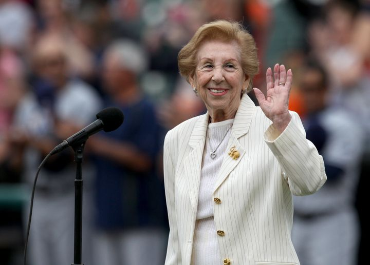Hermina Hirsch, a Holocaust survivor, performed the national anthem on May 21 before the Detroit Tigers took on the Tampa Bay