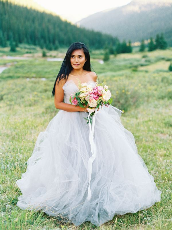 26 Dreamy Blue Wedding Dresses That Stand Out In A Sea Of White Huffpost