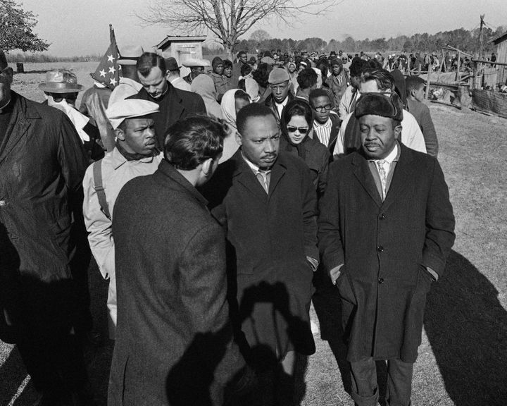 Dr. King in Selma, Alabama.
