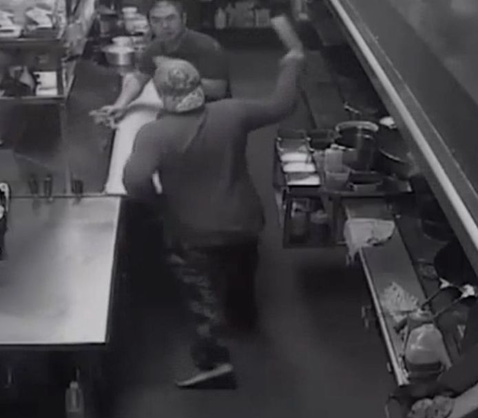 Temp Worker Attacks Restaurant Owners With Meat Cleaver After They Offer Him A