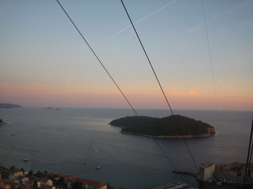 View from cable car, Dubronik