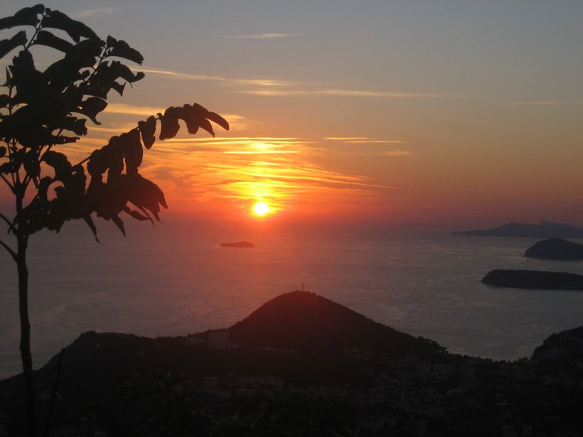 Sunset from Panorama Restaurant, Dubrovnik