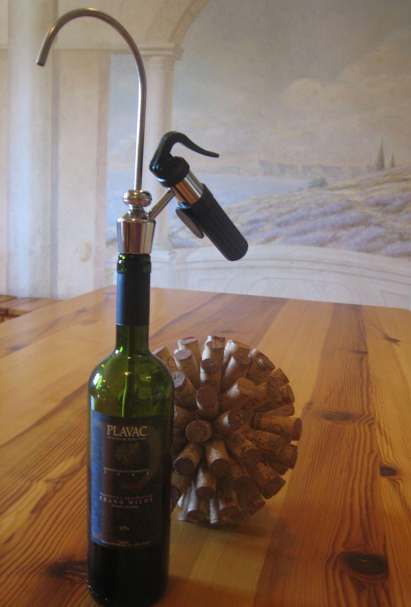 Homemade Coravin ( 1994 Plavic Mali) - Milos Winery,  Pelješac Peninsula