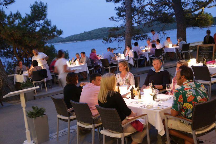 Outdoor Cafe' - Lešić Dimitri Palace Restaurant, Korčula
