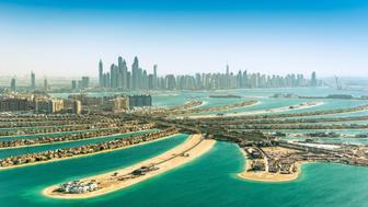 The Palm Jumeirah in Dubai, Dubai, United Arab Emirates