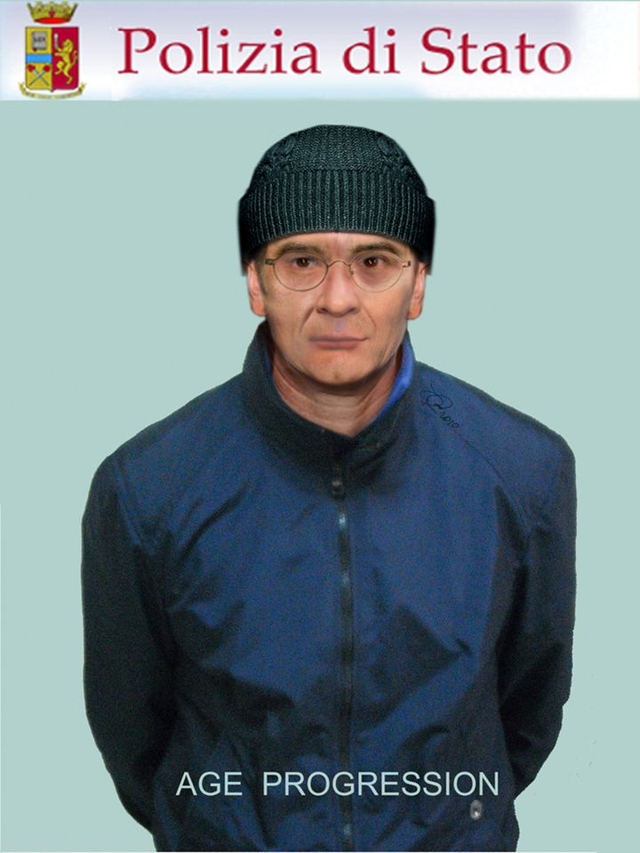 An image generated by the Italian state police forensics laboratory shows a computer rendition of what mafia fugitive Matteo