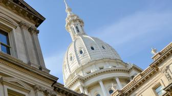 The dome of the Capitol building in Lansing, the capital of Michigan.