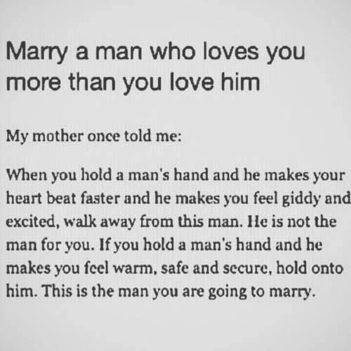 The man you love