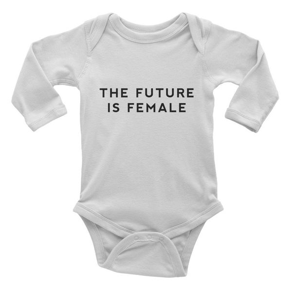 "<a href=""https://www.etsy.com/listing/459535792/the-future-is-female-baby-onesie-infant"" target=""_blank"">CupOfTeeStore</a>, $"