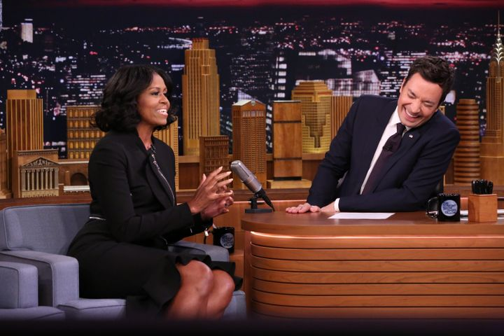 Michelle Obama appeared on the program for the third time Wednesday night.