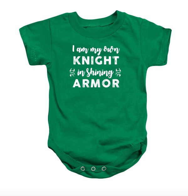 "<a href=""https://www.etsy.com/listing/490534992/i-am-my-own-knight-onesie-or-toddler-t"" target=""_blank"">Clarkitecture</a>, $3"