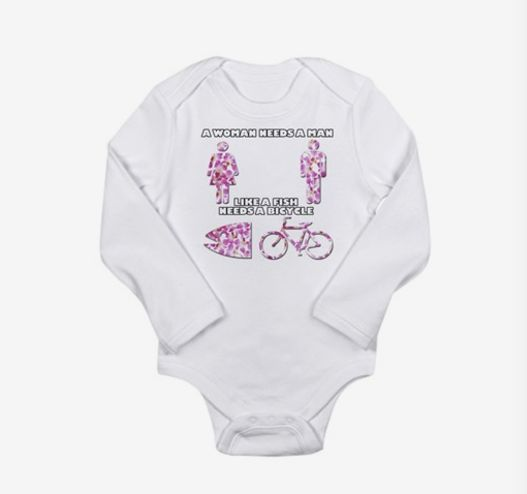 "<a href=""http://www.cafepress.com/mf/68034970/a-woman-needs-a-man_bodysuit?productId=647800941#size=0-3m"" target=""_blank"">Alb"