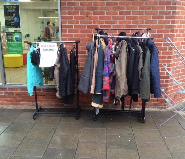 The coat exchange steadily grew over the