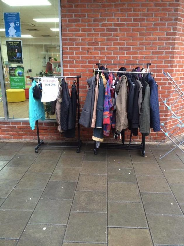 The coat exchange set up by Fay Sibley in