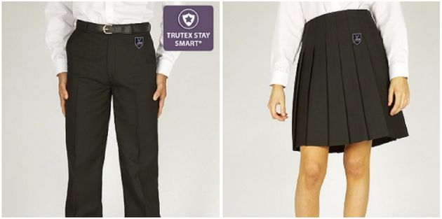 Photos of trousers and a skirt for The Redhill Academy on