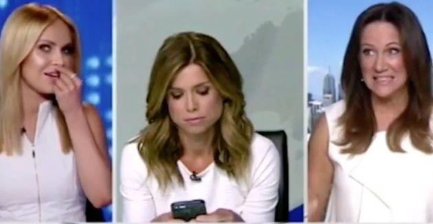 Newsreader Amber Sherlock Throws Awkward Strop Over Outfit Clash 58776e7e1700008801929a89