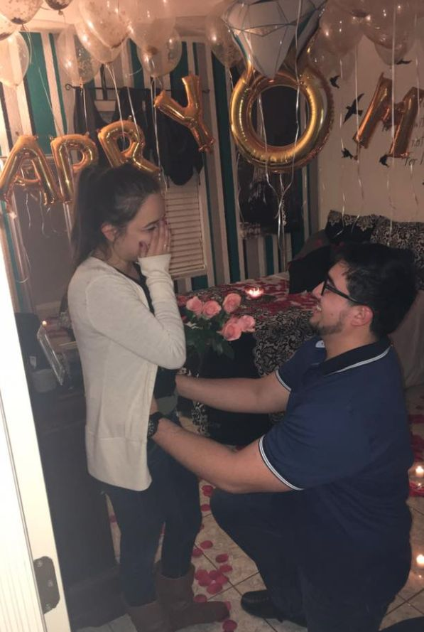 Guy's Elaborate Proposal To Childhood Sweetheart Leaves The Internet In