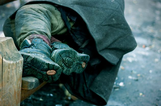 Sleeping rough in winter is particularly