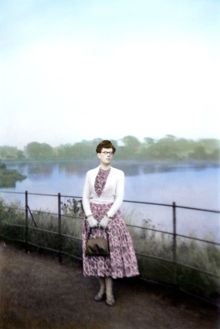 <em>K at Duddingston Loch</em>. From the series <em>Looking for K&#x2F;Finding K</em>, 2015. Hand-coloured pigment print, 42