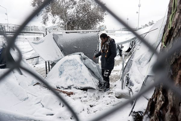 Conditions are no better in the Moria camp located on Lesbos island.