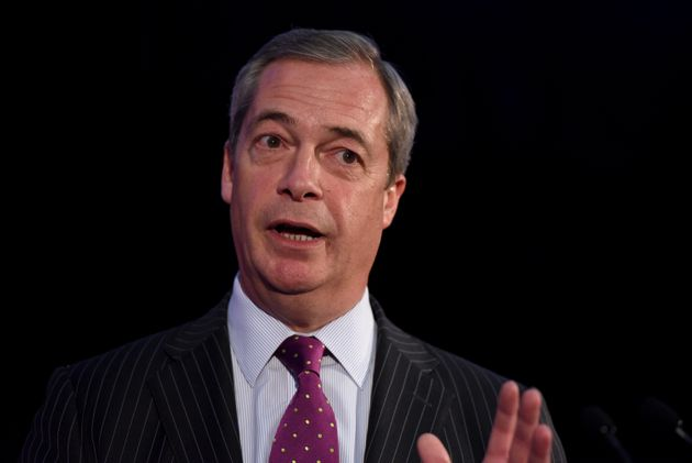 Nigel Farage gives a speech in London, Nov. 28,