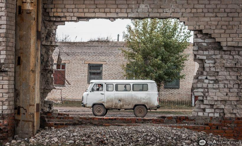 Soviet van in Mongolia's easternmost town: Khalkhgol.