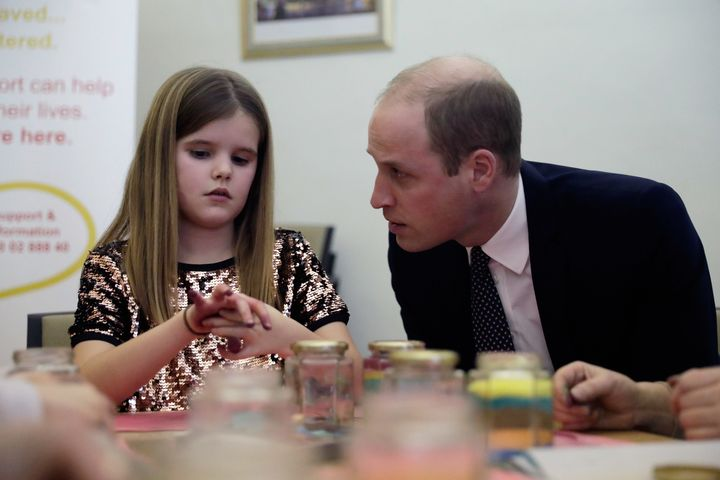 On Wednesday, William and the Duchess of Cambridge visited a Child Bereavement UK center in London.