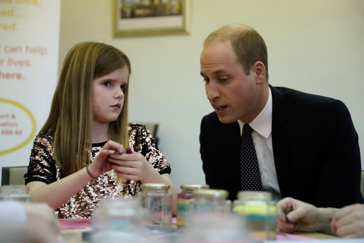 During the visit, William spoke to a 9-year-old girl named Aoife, who lost her father to pancreatic cancer six years earlier.