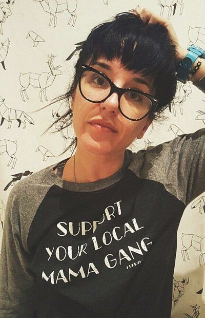 """<a href=""""http://punkymoms.storenvy.com/collections/1218771-apparel/products/16394733-support-your-local-mama-gang-unisex-ragl"""