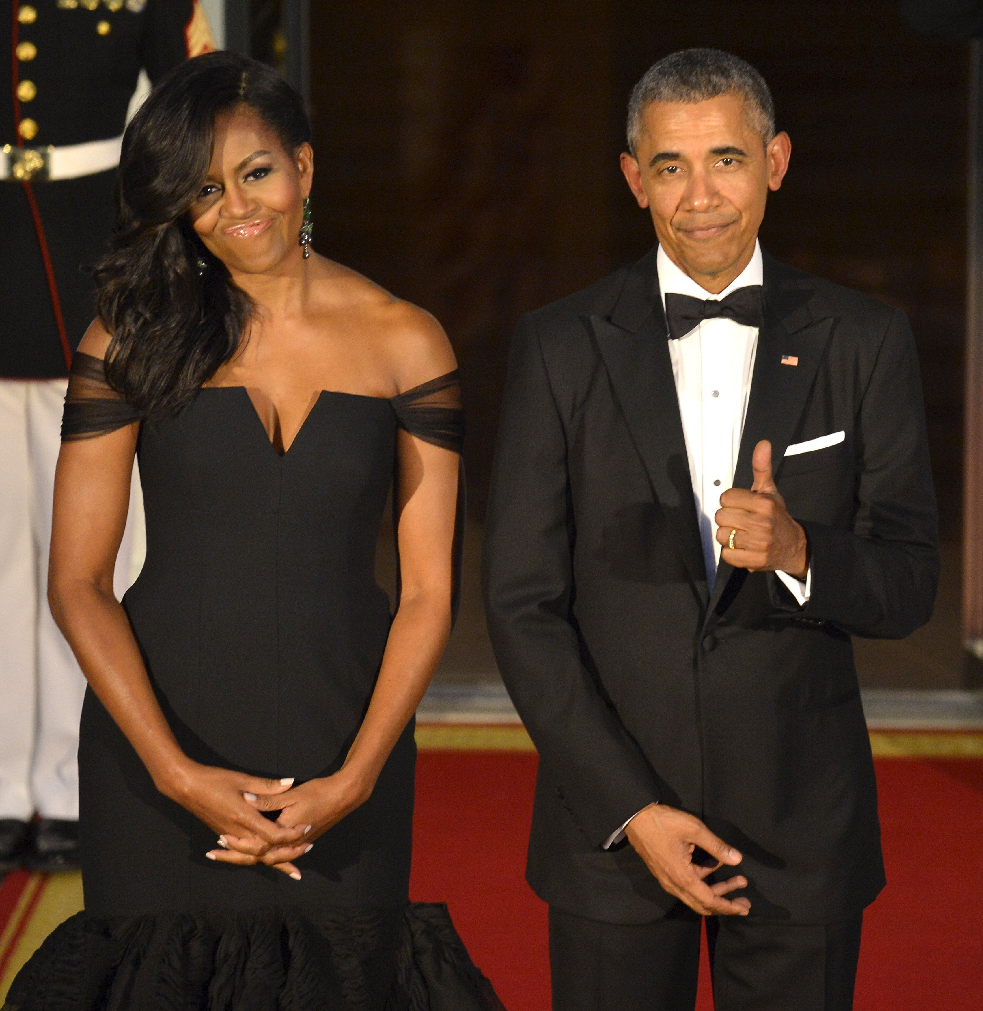 The President has no complaints about FLOTUS's style.