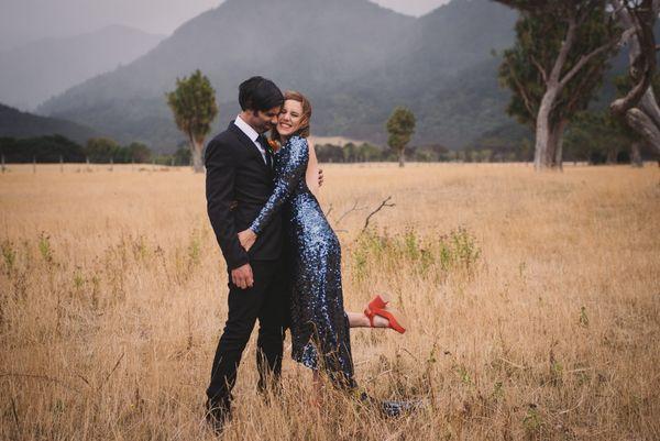 "<i>Gown by <a href=""http://www.lovemydress.net/blog/2016/02/sequin-blue-wedding-dress-picnic-new-zealand.html"" target=""_blank"