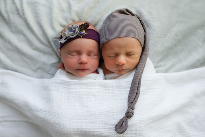 The twins nap together.