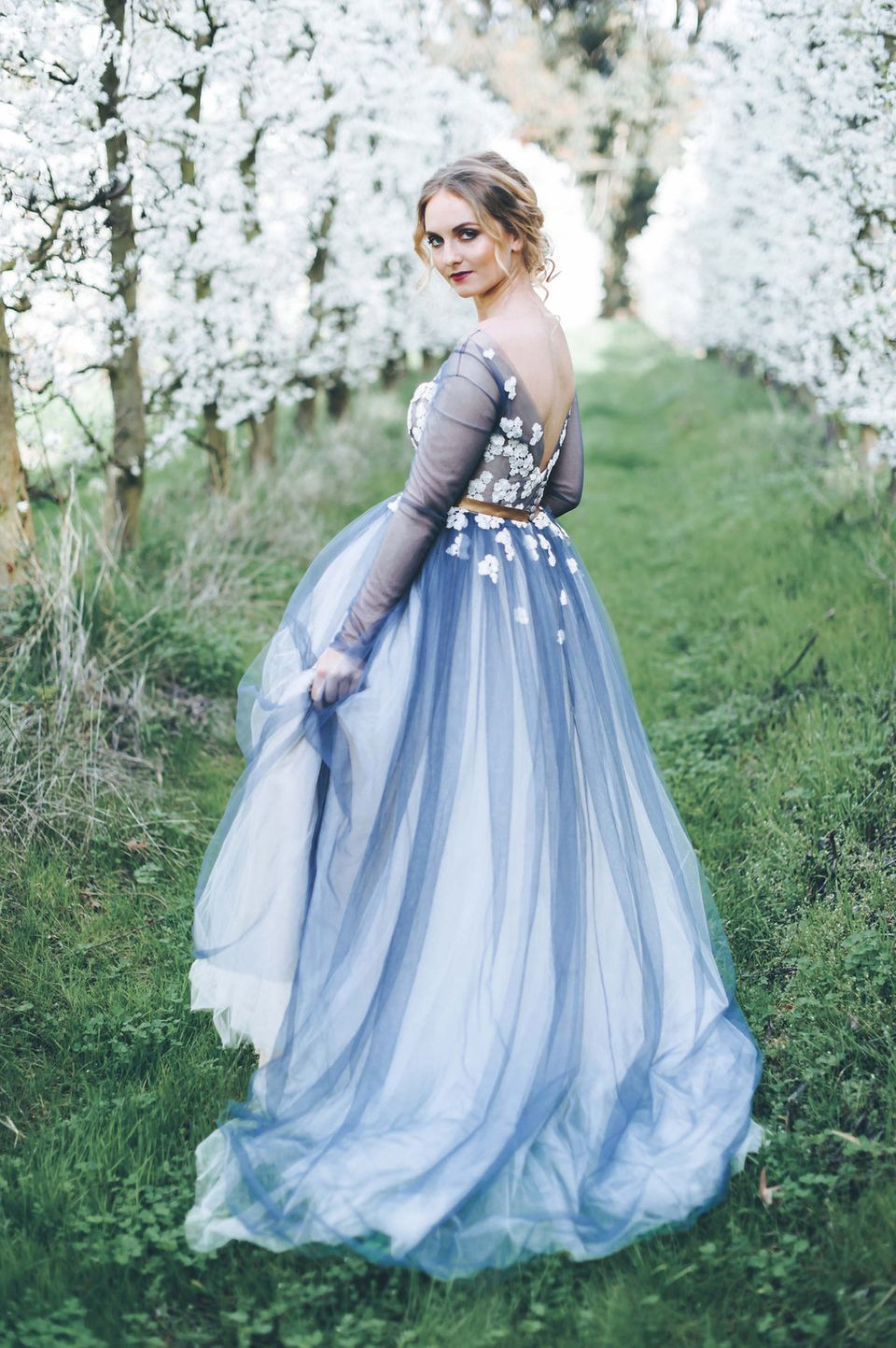 25 Dreamy Blue Wedding Dresses That Stand Out In A Sea Of White Huffpost Life