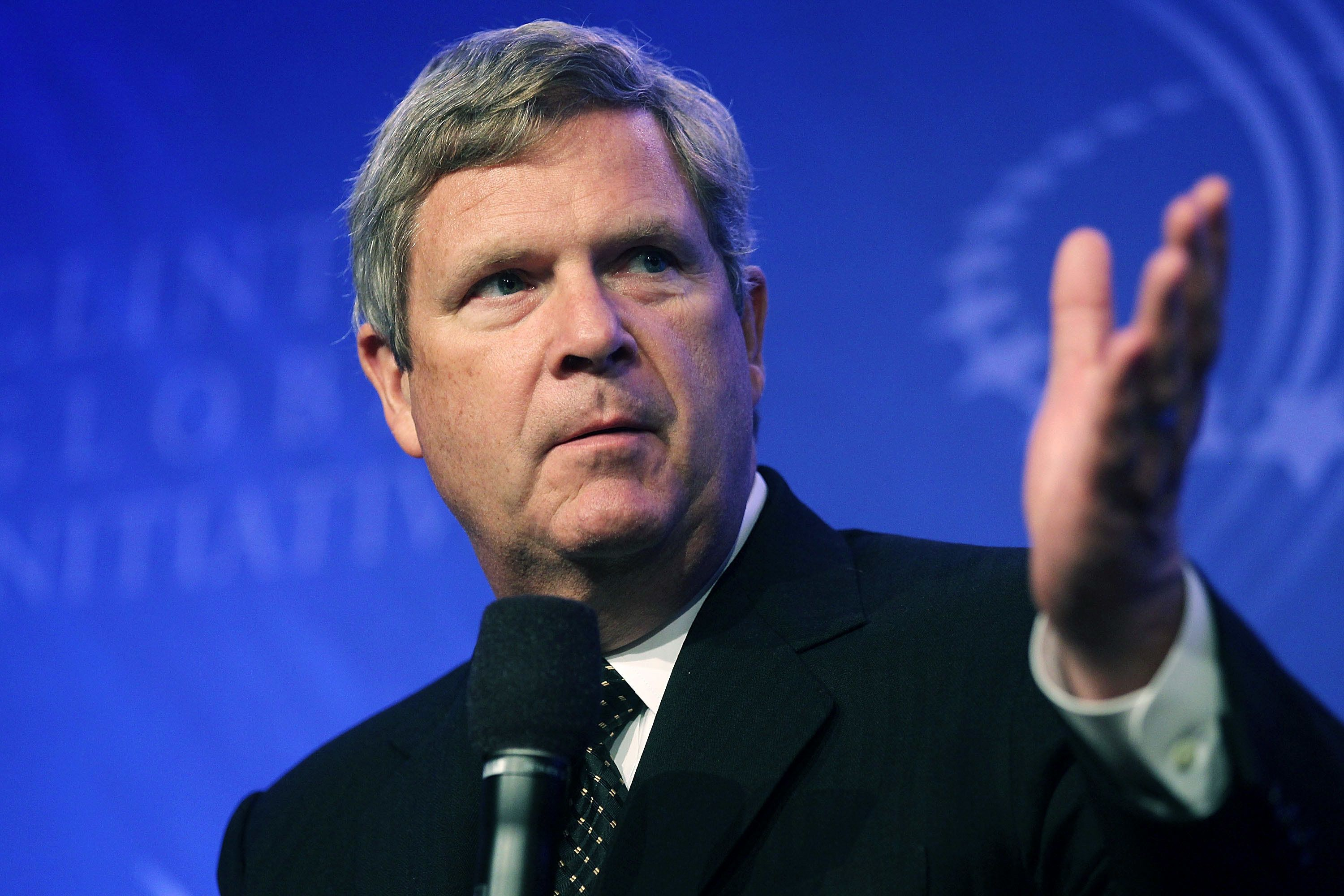 NEW YORK - SEPTEMBER 22:  Tom Vilsack, U.S. Secretary of Agriculture, speaks during the annual Clinton Global Initiative (CGI) September 22, 2010 in New York City. The sixth annual meeting of the CGI gathers prominent individuals in politics, business, science, academics, religion and entertainment to discuss global issues such as climate change and the reconstruction of Haiti. The event, founded by former U.S. President Bill Clinton after he left office, is held the same week as the General Assembly at the United Nations, when most world leaders are in New York City.  (Photo by Mario Tama/Getty Images)