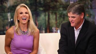 NEW YORK, NY - SEPTEMBER 16:  Elisabeth Hasselbeck joins 'FOX & Friends' as co-host as she speaks with Sean Hannity at FOX Studios on September 16, 2013 in New York City.  (Photo by Neilson Barnard/Getty Images)