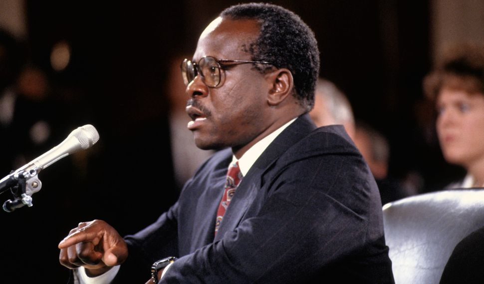 Clarence Thomas was allowed to testify both before and after Anita Hill.
