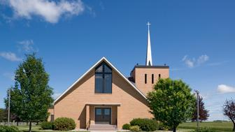 Modern Christian church.  Location: Minnesota, USA