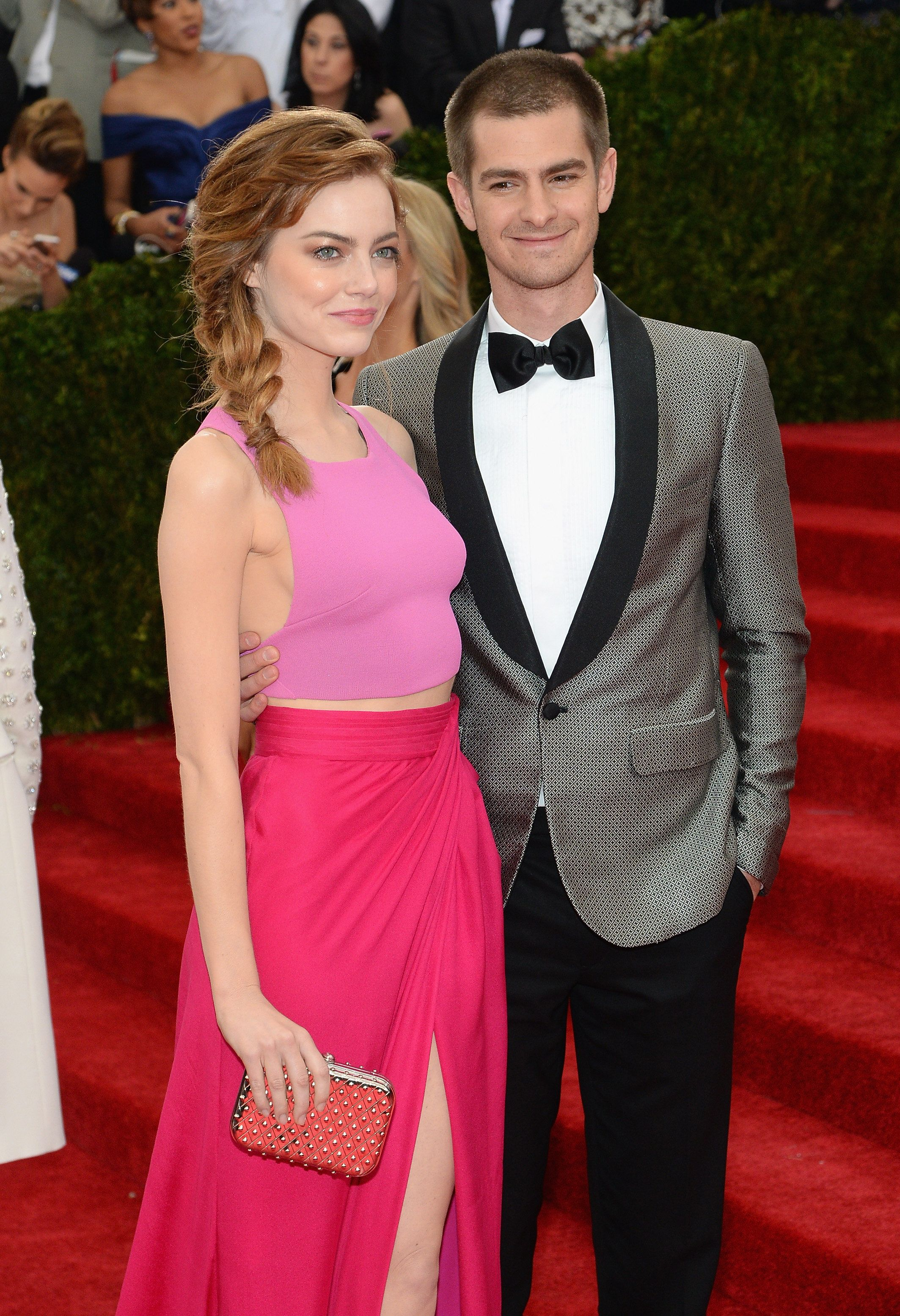 NEW YORK, NY - MAY 05:  Actors Emma Stone and Andrew Garfield attends the 'Charles James: Beyond Fashion' Costume Institute Gala at the Metropolitan Museum of Art on May 5, 2014 in New York City.  (Photo by Dimitrios Kambouris/Getty Images)