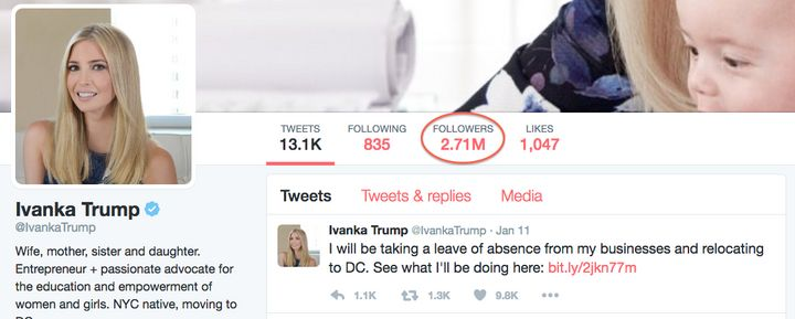 Ivanka's Twitter Page Is Huge Post-Election