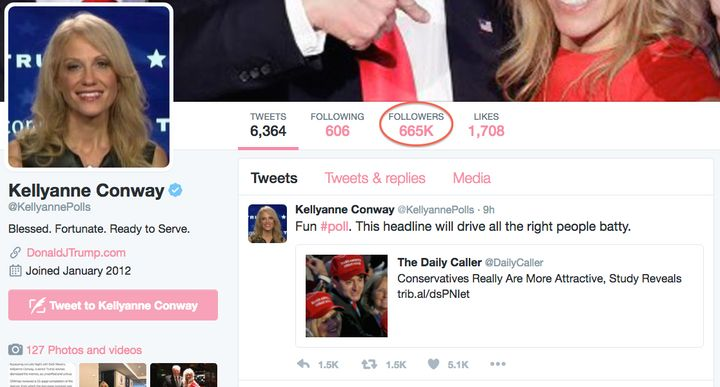 Kellyanne's Twitter Page Is Also Huge Post-Election