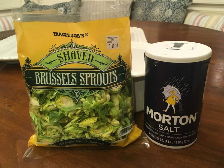 Trader Joe'smakes pre-halved Brussels sprouts.