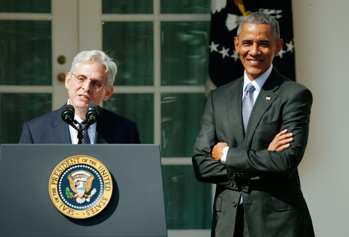 Merrick Garland was Obama's last Supreme Court pick, the one blocked by Republicans' refusal to even hold a hearing.