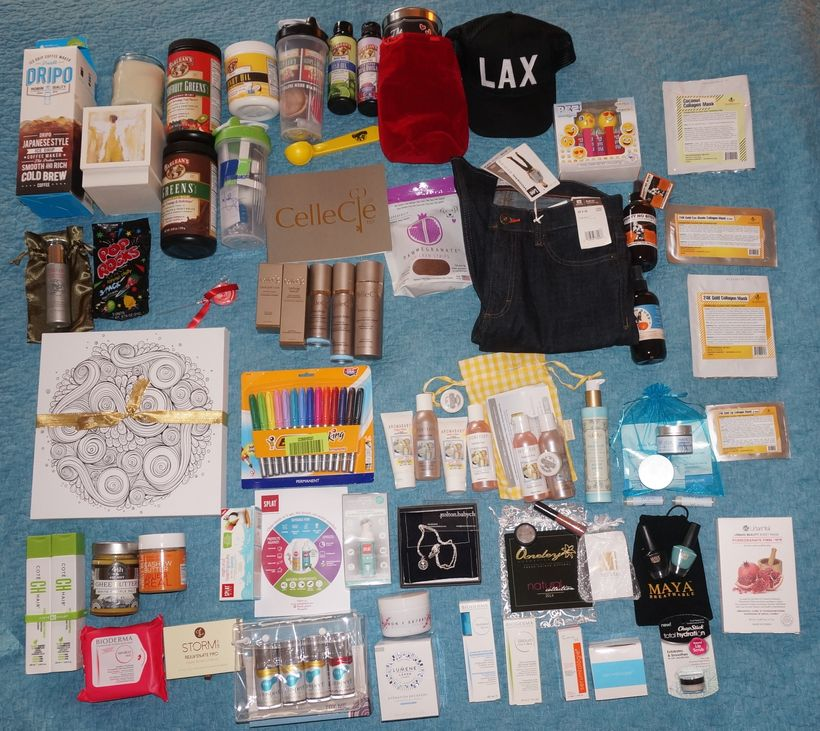 The swag haul is impressive from Secret Room Events