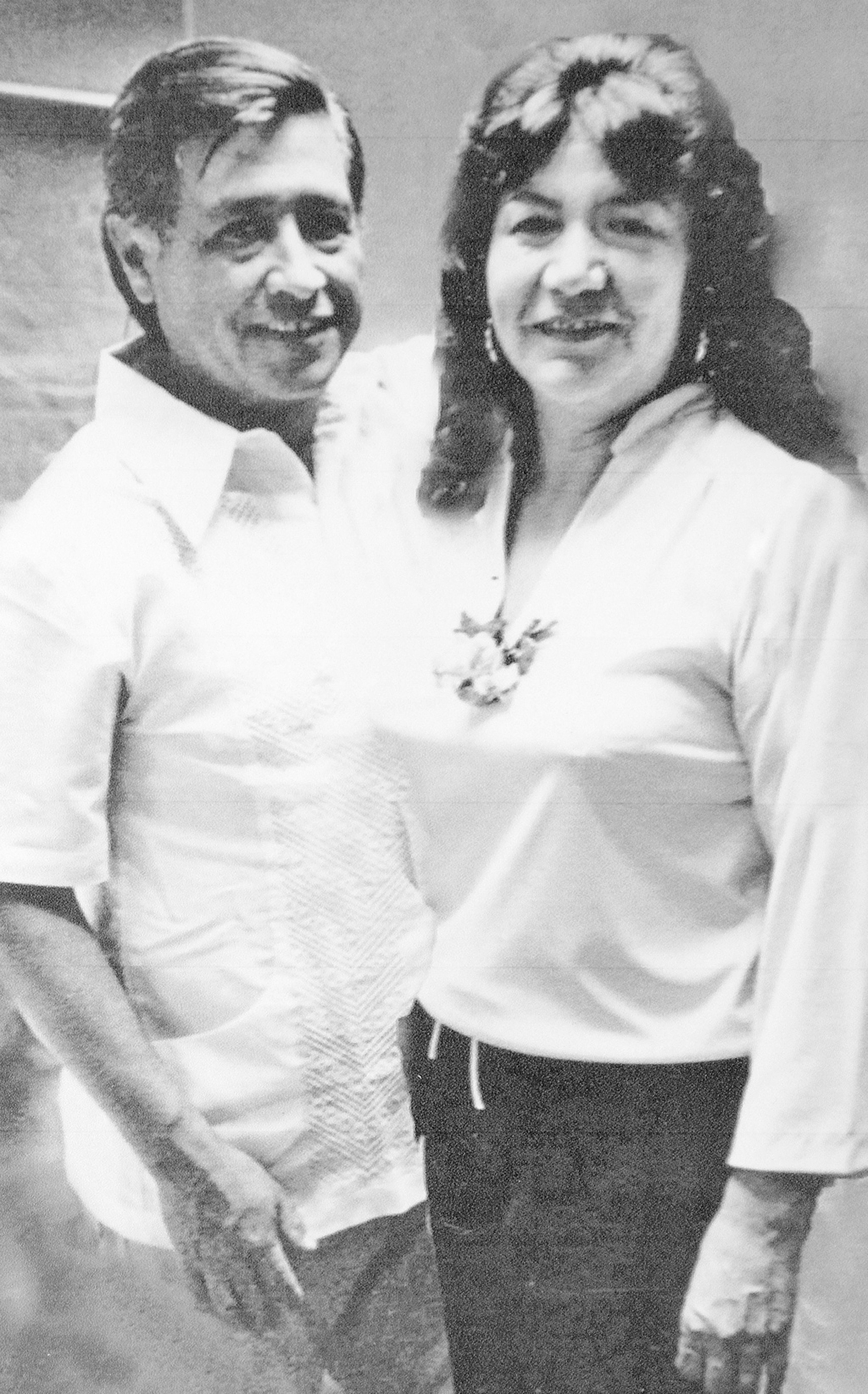 Portrait of United Farm Workers (UFW) co-founder Cesar Chavez (1927 - 1993) and  his wife Helen, California, ca.1970s. (Photo by Cathy Murphy/Getty Images)