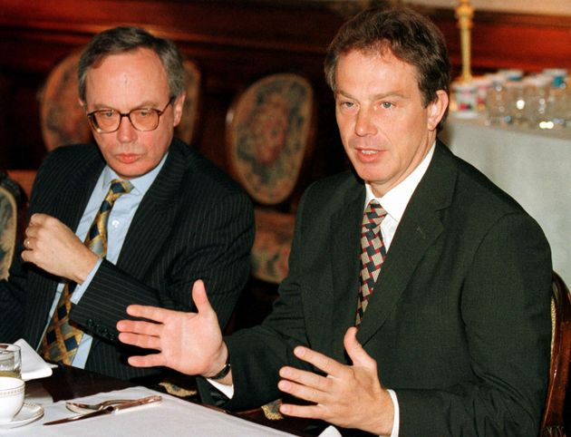 Sir Andrew Wood (left) with former British prime minister Tony