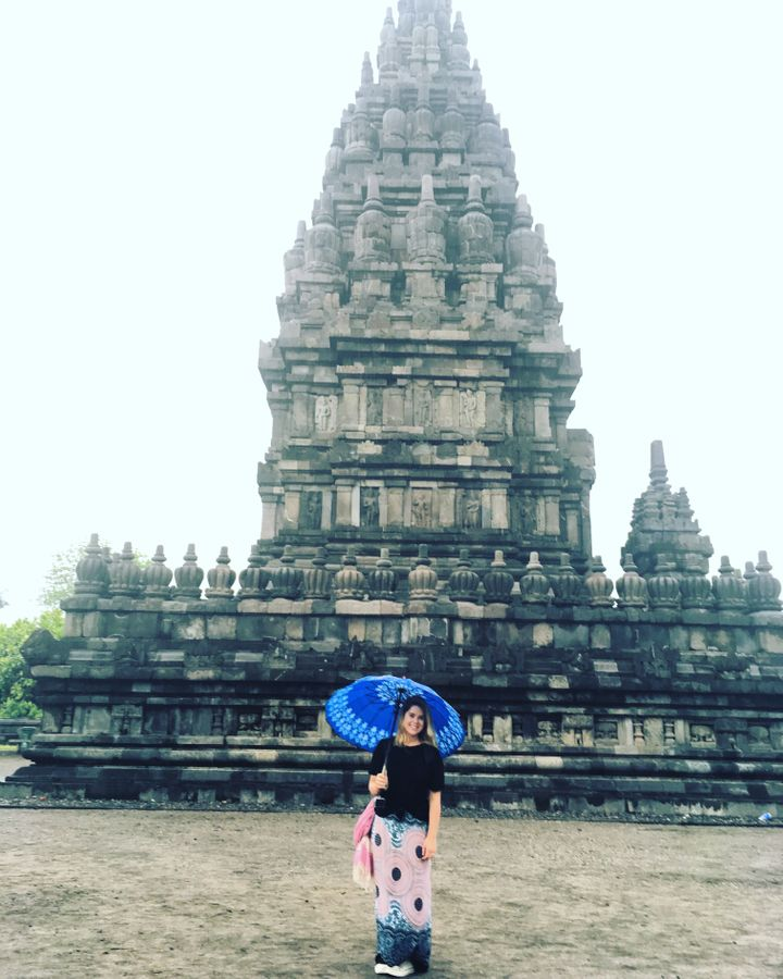 <p>Caught in a gentle rain shower at Prambanan Temple in Yogyakarta, Indonesia. </p>