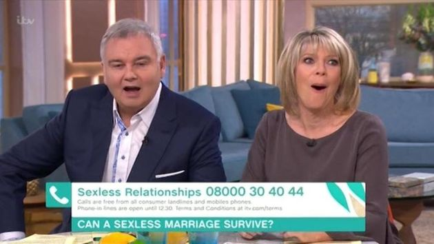 Eamonn Holmes made an admission about his and Ruth Langsford's sex lives on 'This