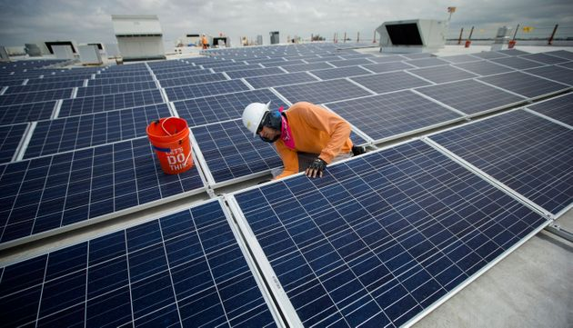 Ikea stores across the world include solar panel arrays on top of