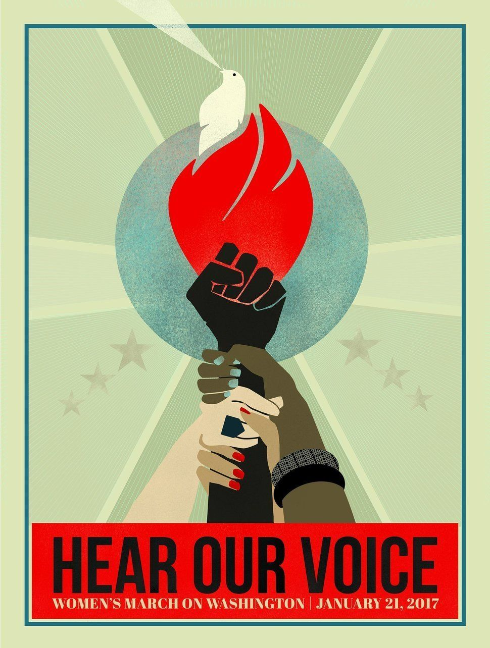 "Illustration titled ""Hear Our Voice"" by Liza Donovan, created for the Women's March on Washington. Read more"
