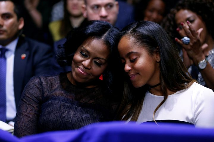 FLOTUS and Malia had too many heartwarming moments during Obama's farewell speech.